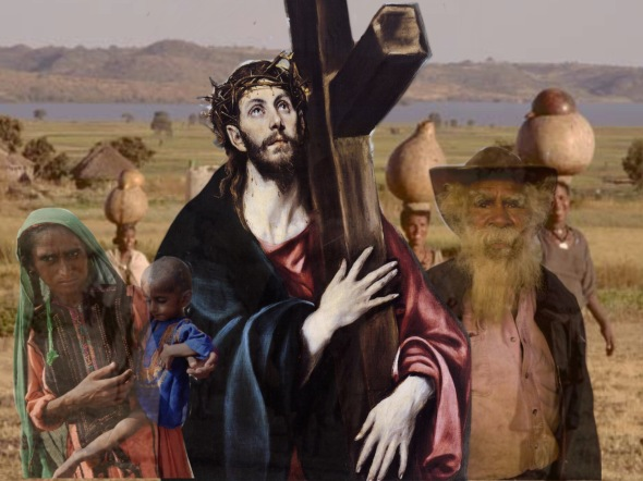 2. Jesus carries his cross