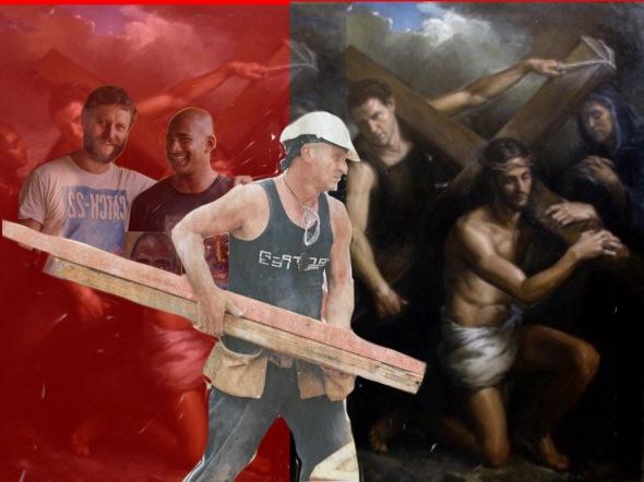 5. Simon helps Jesus carry his cross